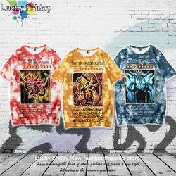 Yu-gi-oh! Tshirt Streetwear mężczyźni dorywczo główna ulica japonia 3D drukuj koszulki letnia kreskówka T koszula chłopcy słodkie Amine Tshirt mężczyzna