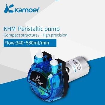 Kamoer KHM precyzyjna pompa perystaltyczna (silnik prądu stałego 3 wirniki) z napędem przekładnia z tworzywa sztucznego (Norprene tunbe lub rura silikonowa)