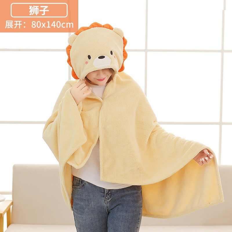 Details about  /Cute Plush Cape Lazy Blanket Soft Cartoon Dinosaur Stuffed Doll Cosplay Blanket