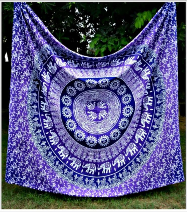Enipate Indian Mandala Tapestry Aubusson Colored Printed Decor Mandala Tapestry Religious Boho Wall Hanging Living Room Blanket