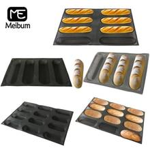 Meibum-قوالب خبز سيليكون غير لاصقة ، 5 أنواع من الرغيف الفرنسي ، قالب هوت دوج ، شكل طويل ، رغيف مثقوب ، أدوات خبز ، أواني خبز من الألياف الزجاجية