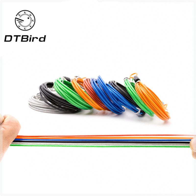 Portable 2M Security Double Loop Cable Strong Braided Steel Bike Wire Chain Lock