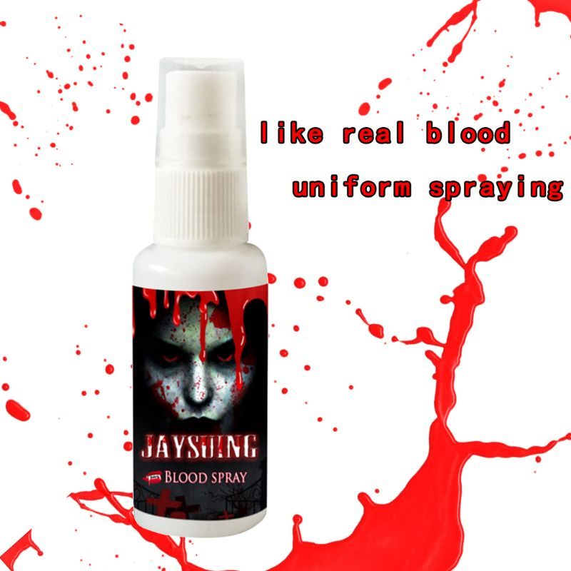 30ml Realistic Fake Blood Spray Halloween Party Fancy Makeup Splatter Bloods Hematopoietic Props Decoration Q6PD