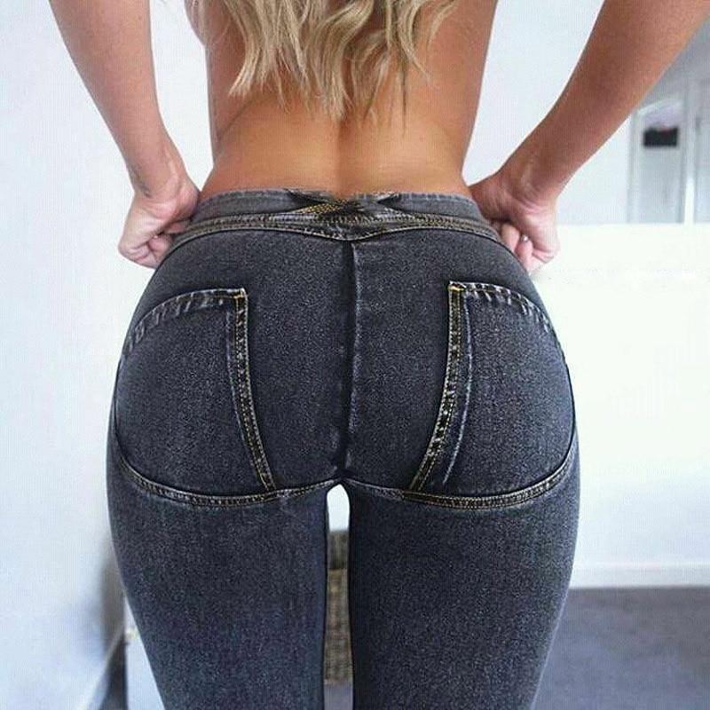 NORMOV Sexy Women Casual Jeans Skinny   Leggings   Bodycon Low Waist Denim   Leggings   Push Up Pencil Jeans Legins Mujer High Street