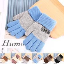 Зимние Детские теплые перчатки, детские вязаные эластичные варежки с героями мультфильмов, эластичные Лоскутные перчатки для мальчиков и девочек