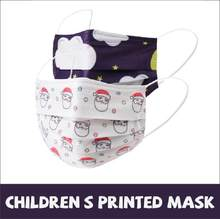 10pcs/50pcs/100pcs Disposable Mask 3-layer Non-woven Dust-proof, Breathable Hanging Ear Printing Christmas Mask For Children