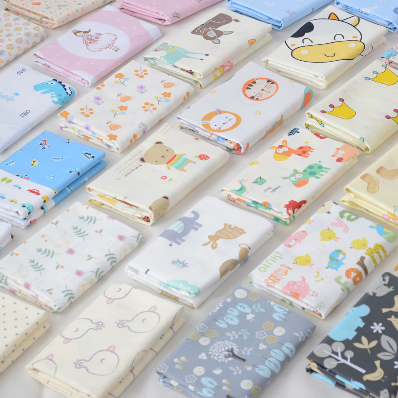 Printed Cartoon Kids 100% Cotton Fabric Cotton Patchwork Cloth DIY Sewing Quilting Fat Quarters Material For Baby&Child