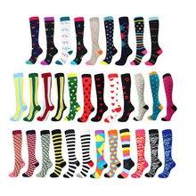 Chaussettes de sport d'extérieur pour hommes et femmes, chaussettes de compression de sport (20-30 mmHg), chaussettes élastiques pour varices