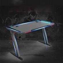 47 Polegada ergonômico mesa de jogos rgb conduziu a luz e-esportes mesa de computador mesa de computador pc gamer mesas estação de trabalho com suporte de copo usb