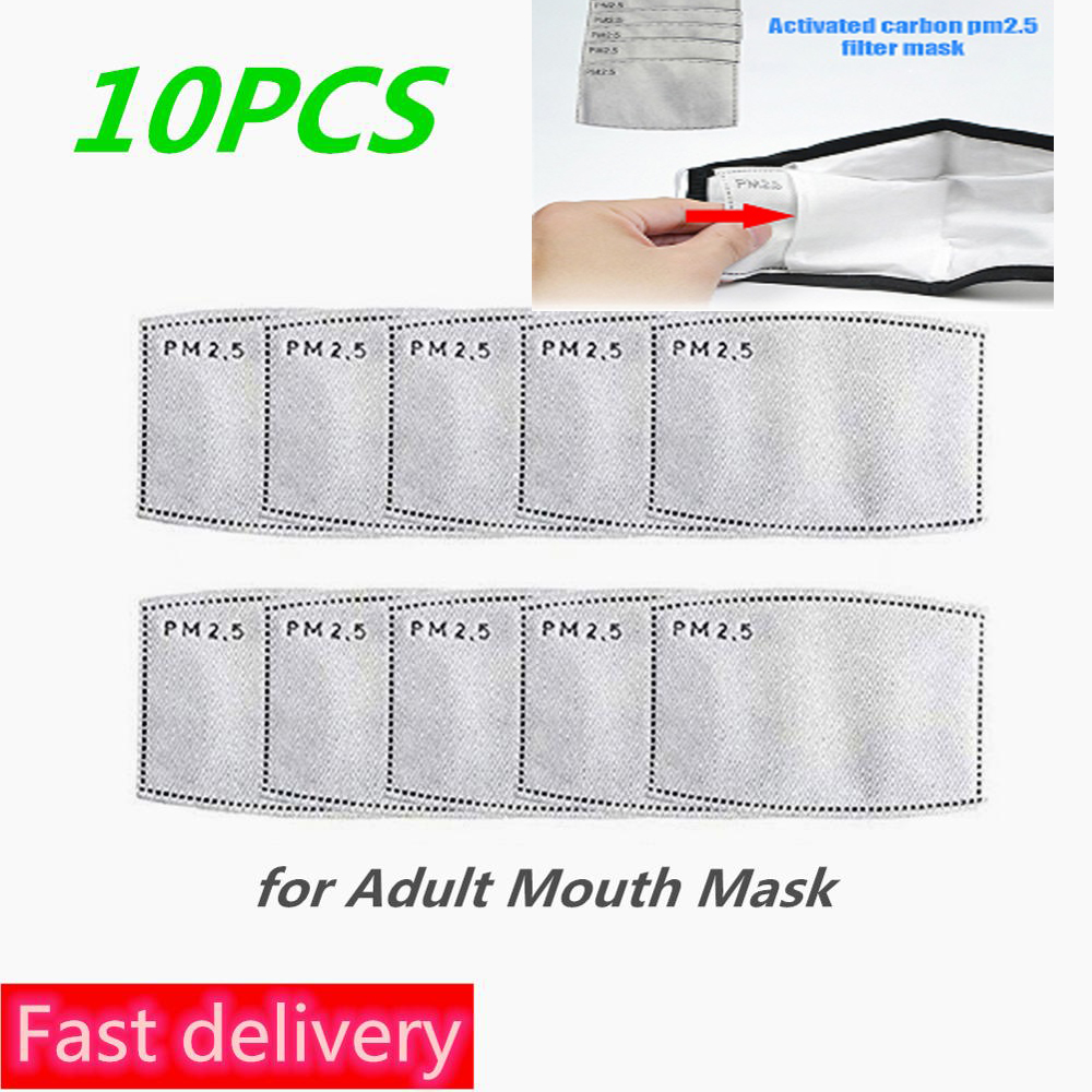 10Pcs/Lot PM2.5 5 Layers Filter Paper Anti Dust Mask Anti Haze Mouth Mask Filter Paper Health Care For Kids Adults Fast Delivery