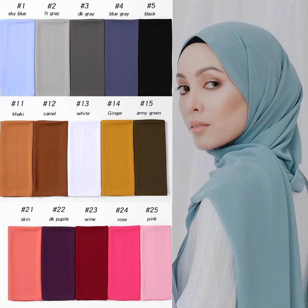 10pc/lot Wholesale Woman Bubble Chiffon Scarf Hijib 2020 Fashion Muslim Head scarf Bandana Shawl Wrap 2M*72CM Long Scarives