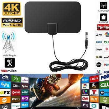 Antena satelitarna HD 980 mil telewizja cyfrowa Mini HD telewizja cyfrowa wzmacniacz antenowy kabel telewizyjny tanie i dobre opinie Rondaful VHF (170-240Mhz) UHF( 470-860Mhz) Indoor 980 Miles HD TV Antenna Drop shipping