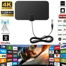 Satélite HD Antena 980 millas Digital Tv HD Mini cubierta de la Antena de TV Digital amplificador de Cable de Tv