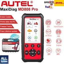Autel MaxiDiag MD808 Pro tüm SRS/ABS/yağ sıfırlama OBD2 teşhis aracı araba kod okuyucu tarayıcı vs maxiCheck Pro MD805 MD802