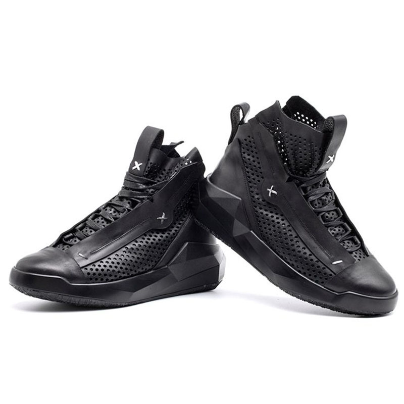 Brand New Men Genuine Leather Trainer Sneakers Lace Up Hollow Out Fashion Shoes Male Thick Platform Casual Footwear Zapatos