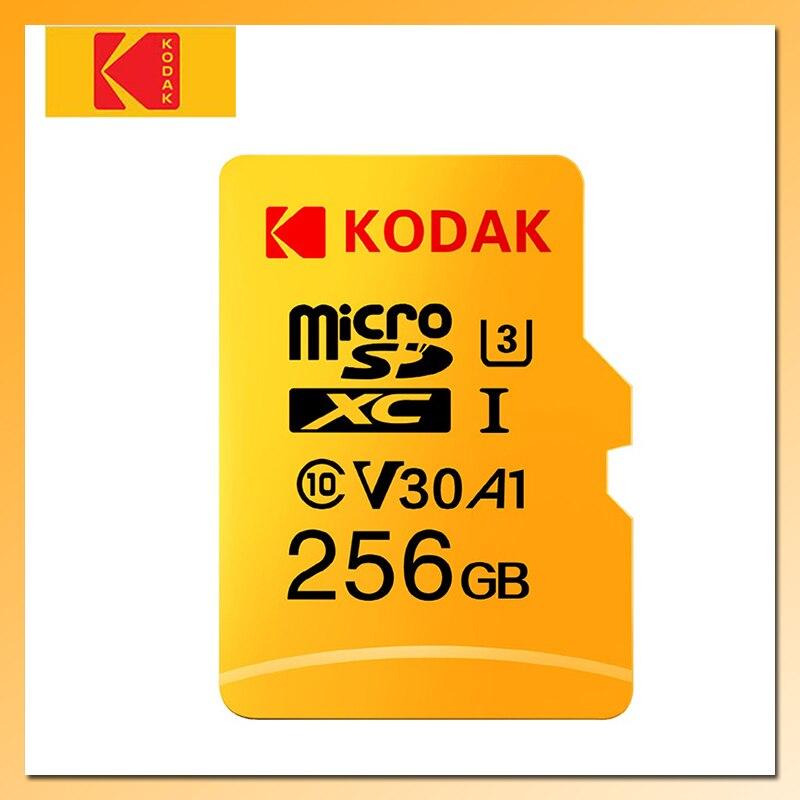 Cartão de Memória Flash KODAK 32GB 64GB 128GB 256GB 512GB Micro SD tarjeta U3 4K TF/Cartão SD Classe 10 Memoria Micro SD De Alta Velocidade