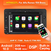 Radio Estéreo con pantalla dividida para coche, Radio con reproductor DVD, navegador, Android 10, 1024x600P, para Alfa Romeo, Spider, Alfa Romeo 159, Brera 159, Sportwagon