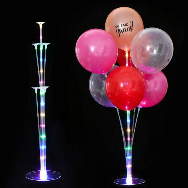 1 Set Balloons Holder Column Stand Holder Stickers <font><b>Ballon</b></font> <font><b>Support</b></font> with LED for Party Baby Shower Decoration Balloon Accessories image