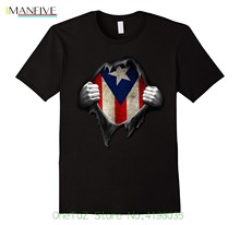 лучшая цена Puerto Rico Flag T Shirt. Proud Puerto Rican O-neck Fashion Casual High Quality Print T Shirt