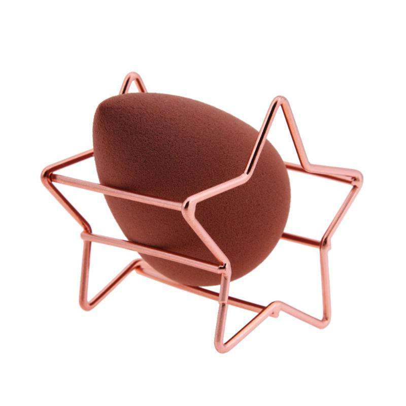 Fashion Cosmetic Puff Makeup Sponge Holder Display Stand Sponge Holder Bracket Make Up Puff Support Makeup Organizer Star Shape in Cosmetic Puff from Beauty Health