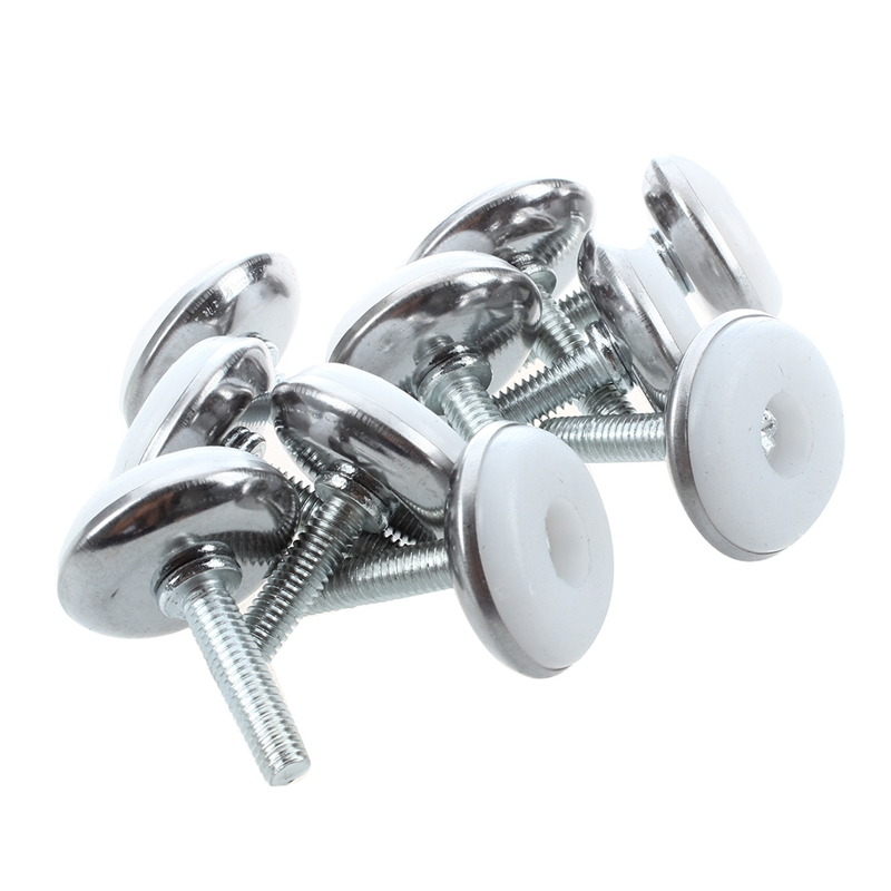 Promotion!  M6 X 25mm Plastic Base Leveller Leveling Foot Furniture Glide 10 Pcs