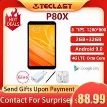 Teclast p80x android 9.0 4g tablet netbook phablet tablets 8 polegada 2gb ram 32gb rom 1280x800 sc9863a octa núcleo gps câmera dupla