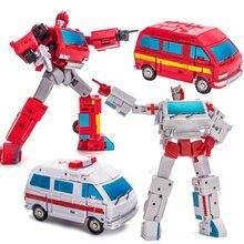 Nowa transformacja NA H8 grzechotka H7 Ironhide G1 mini kieszeń wojna figurka zabawkowe roboty