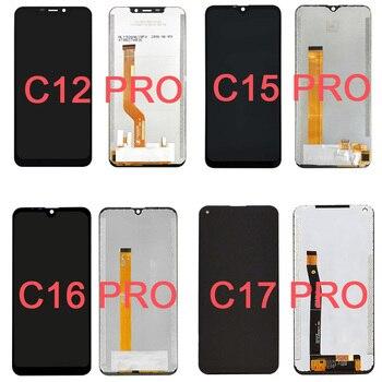 Перейти на Алиэкспресс и купить Для OUKITEL C12 C15 C16 C17 Pro ЖК-дисплей + сенсорный экран дигитайзер панель Стекло в сборе Полная замена частей телефона