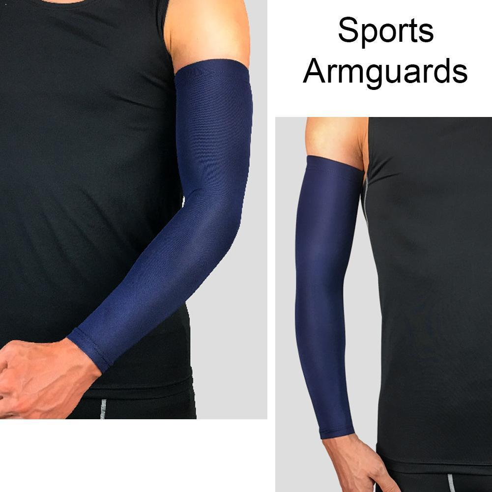1pcs Arm Protection Sun-proof Sleeves Non-slip Breathable Support Elbow Arm Extended Support Cycling Sports Basketball Slee X2P4