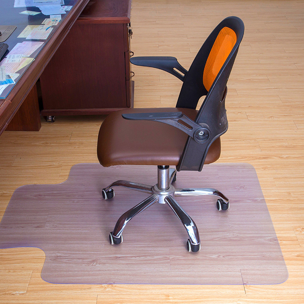 Ouneed Computer Table Mats Non-Slip 30x48 Inch PVC Protector Clear Chair Mat Home Office Rolling Chair Floor Transparent Carpet