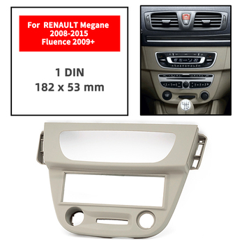 One Din Radio Fascia for RENAULT Megane 2008+/Fluence 2009+ Panel Dash Mount Installation Trim Kit Face Frame GPS 182*53 mm image