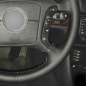 Image 4 - Zwart Pu Kunstleer Diy Auto Stuurhoes Voor Bmw E36 1995 2000 E46 1998 2004 E39 1995 2003 X3 E83 X5 E53 2000 2006
