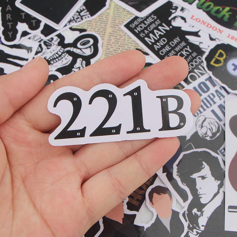 K415 33 pz/set Sherlock FAI DA TE Sticker Impermeabile Per Il Computer Portatile Moto Bagaglio di Skateboard Chitarra Montaggio Adesivo Graffiti Decalcomanie