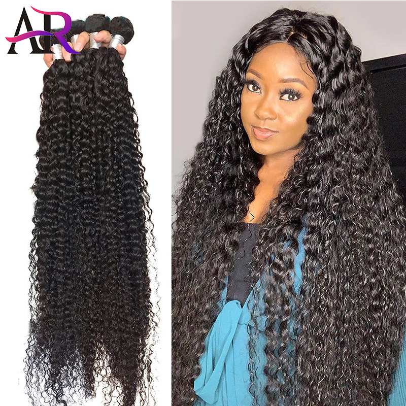 Angelbella Deep Wave Bundles Remy Human Hair Bundles 3 Bundles Brazilian Remy Hair Weaving Human Hair Extensions