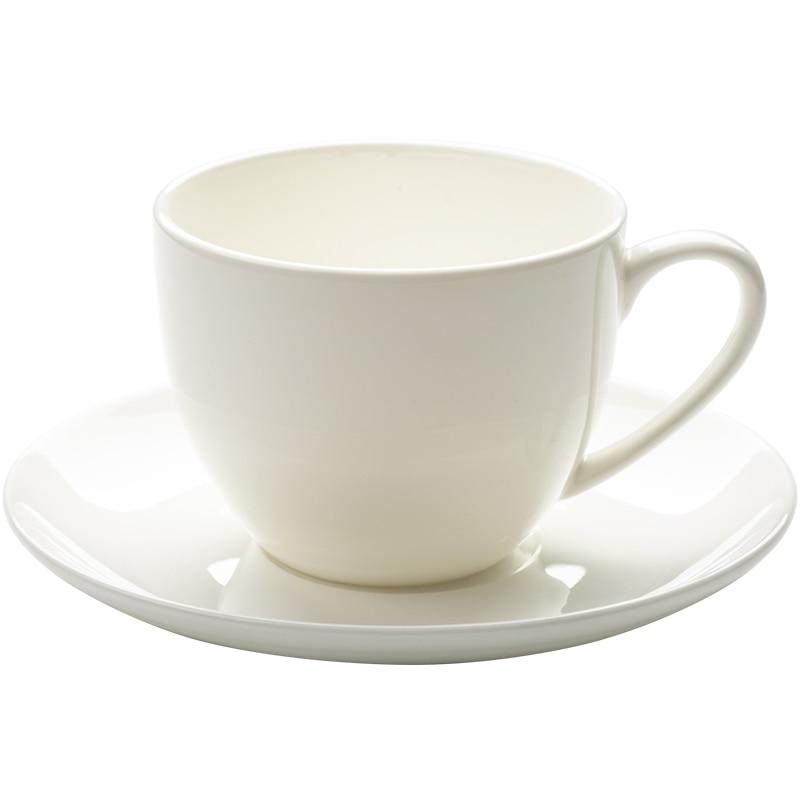 Luxury Porcelain European Coffee Cup Set White Small Bone China High Tea Cup with Saucer  Xicara De Cafe Home Drinkware 50CC