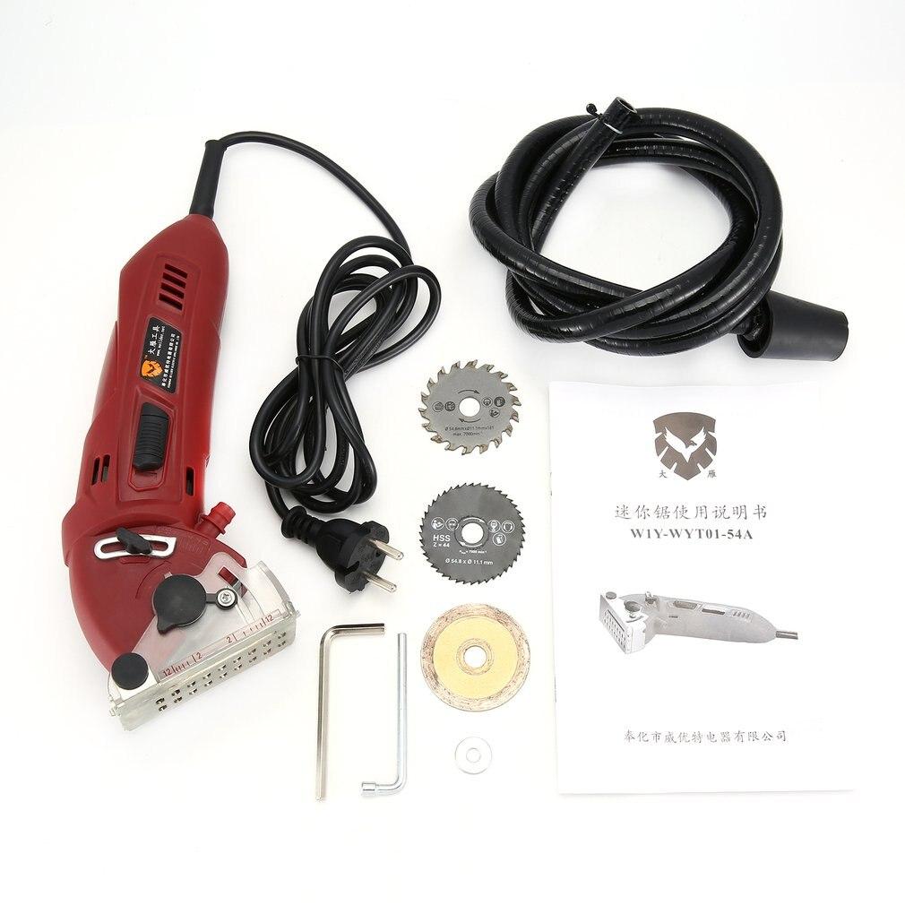 Mini Electric Circular Saw DIY Multifunctional Electric Saw Power Tools Kits Rotary Tool Circular Saw Blades For Woodworking