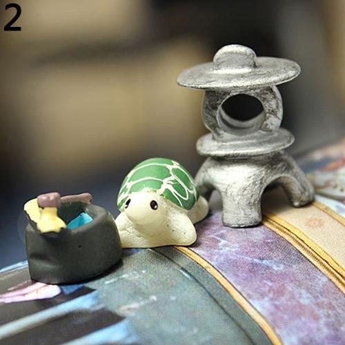 3Pcs Dollhouse Bonsai Craft Micro Landscape DIY Flower Pot Miniature Decoration Garden Ornament Miniature Fairy Garden Decor DIY