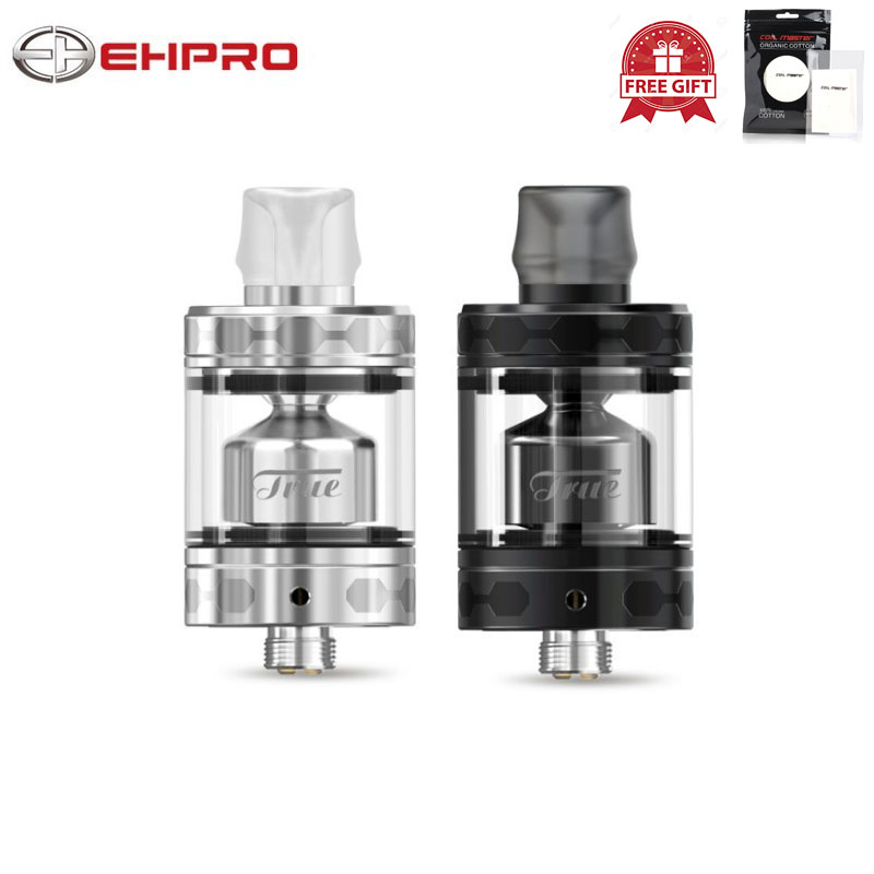 Original Ehpro True MTL RTA Top Refill 3ml Easy Build Coils Electronic Cigarettes Atomizer 5 Air Slots VS Geekvape Zeus Tank