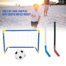 8pcs/set Kids Child Ice Hockey Stick Training Tools Kids Sports Soccer Field Hockey Goals with Balls and Pump Toy Set Football(China)