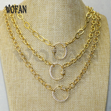 Crescent pendants necklace Toggle-clasp Lock pendants necklace accessories fashion jewelry for women 50594 stylish turquoise crescent necklace for women