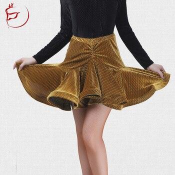 Latin Dance  Skirt Women's Adult Expandable Velvet Skirt  Salsa Dance Skirt   Latin Dance Competition Skirt skirt moe skirt