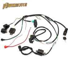 Motorcycle CDI Ignition Coil Wiring Harness Loom Solenoid Ignition Rectifier For 50/70/90/110/125CC Quad Dirt Bike ATV Go Kart for 50cc 110cc 125cc pit quad dirt bike atv motorcycle cdi wiring harness loom solenoid ignition coil rectifier