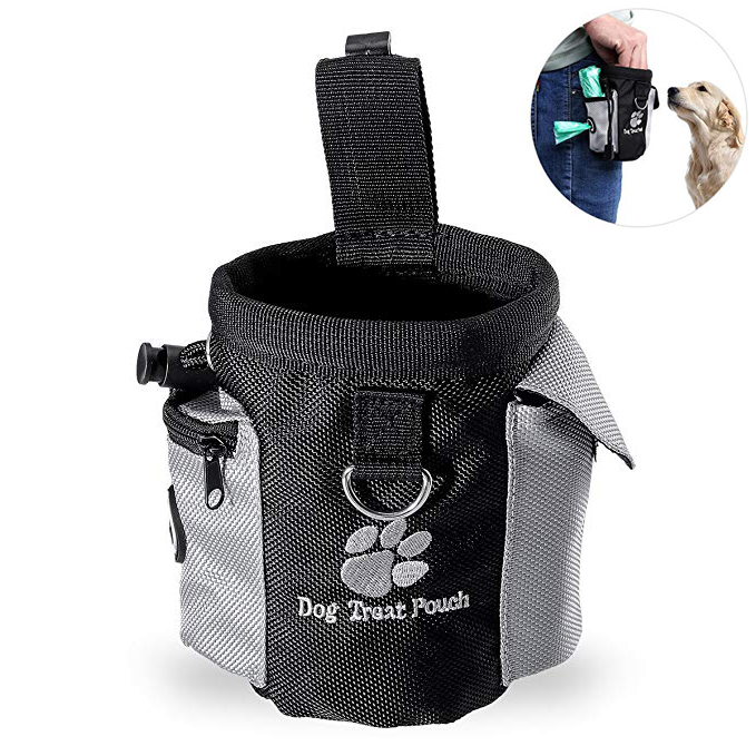 Sweatshirt - Pet Dog Treat Pouch Portable Dog Training Bags Treat Outdoor Feed Storage PouchHands Free Training Waist Bag Pet Product