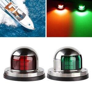 Image 5 - 1 par de aço inoxidável 12 v led arco luz navegação vermelho verde vela sinal luz para barco iate marinho luz advertência barco parte