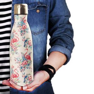 500 мл Изолированная бутылка для воды с рисунком из нержавеющей стали с двойными стенками портативная герметичная термо-бутылка
