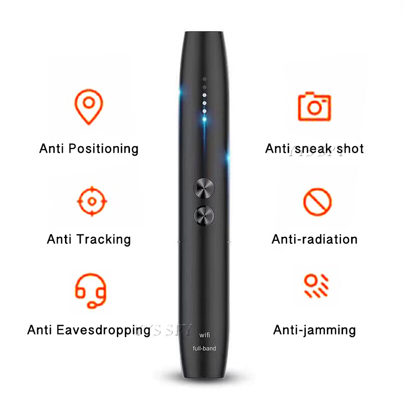 Anti Spy Camera Detector Pen Wireless RF Signal Eavesdropping Pinhole Hidden Cam Audio Bug GSM GPS Wiretapping Device Scanner