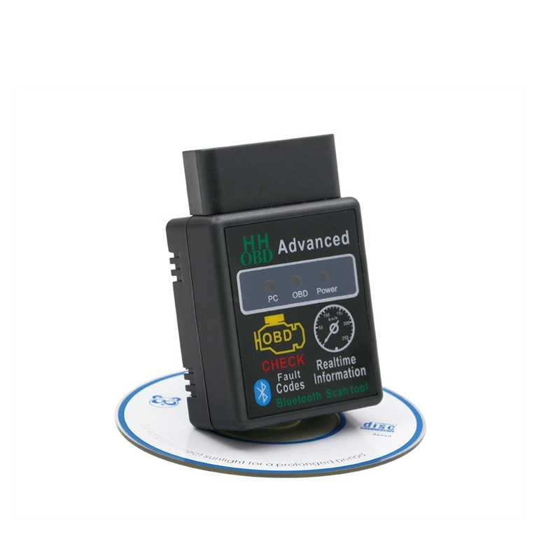 Hh OBD ELM327 Bluetooth OBD2 OBDII Dapat Bus Check Engine Mobil Auto Diagnostik Scanner Alat Antarmuka Adaptor untuk Android PC