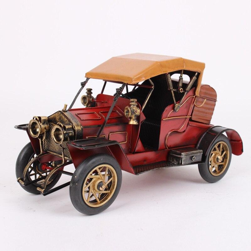 Ретро Оловянная мини модель для литья под давлением, 32,5x13x17 см, классическая популярная модель автомобиля, креативное украшение, детские игр