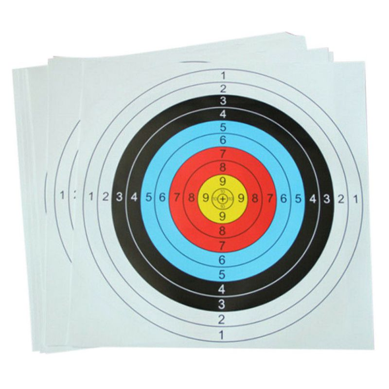 Outdoor Archery Target Paper Face Arrow Bow Shooting Hunting Shooting Training Tools