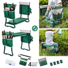 Seat Chair Kneeling-Pad Garden-Stool Pouch Folding Portable And with Handles Eva-Foam